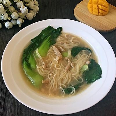 青菜肉丝面(宝宝食谱)