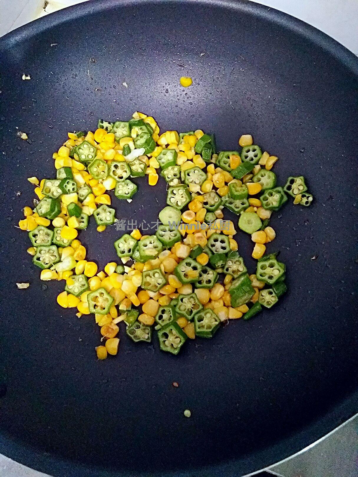秋天的玉米怎么描写_玉米秋葵炒蛋怎么做_玉米秋葵炒蛋的做法_冰冰手记_豆果美食