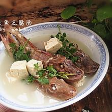 红头鱼豆腐汤--冬季暖身