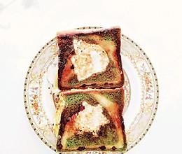 鸡蛋面包片的做法