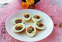鸡蛋酿肉馅的做法