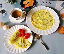 简单易做,老少皆宜的早餐~黄瓜鸡蛋饼的做法