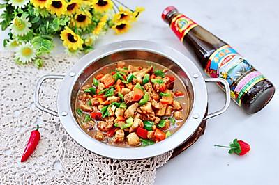 蚝油双椒鸡丁,健康营养又低脂好吃