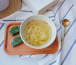桂花百合鸡头米甜汤的做法