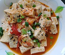 有颜又好吃的西红柿炖豆腐的做法