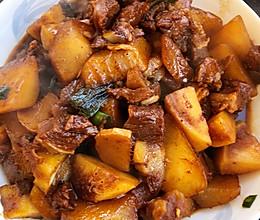 土豆白萝卜炖牛肉的做法