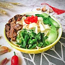 #快手又营养,我家的冬日必备菜品#时蔬牛肉面