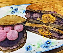 #营养小食光#紫薯芋泥黑麦铜锣烧的做法