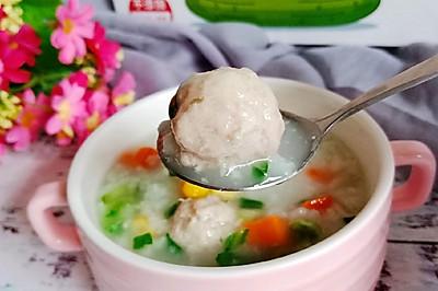 黄瓜肉丸青菜粥