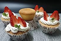 奶油草莓小蛋糕#豆果5周年#的做法