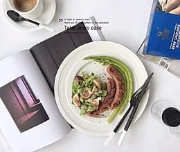 牛肉肠芦笋沙拉,减脂轻食餐的做法