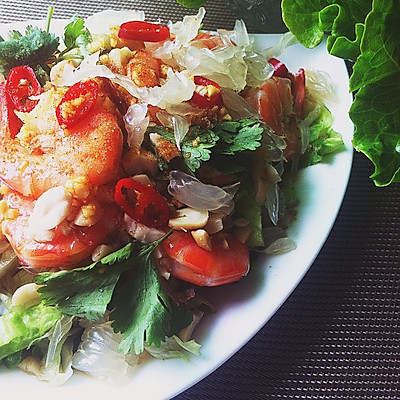泰式柚子虾沙律