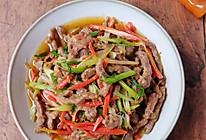 #太太乐鲜鸡汁玩转健康快手菜#葱爆牛肉丝的做法