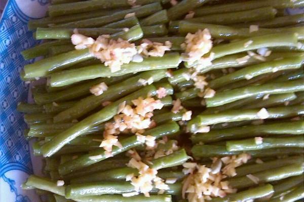 姜汁豇豆的做法