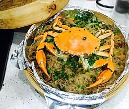 粉丝蒸蟹的做法