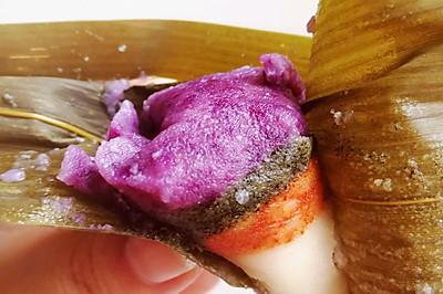 #甜粽VS咸粽,你是哪一党?#五彩芯粽