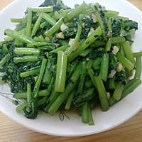 不爱吃蔬菜人士绝佳之选,蒜炒茼蒿的做法图解7