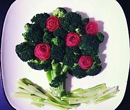 水煮西兰花 摆盘造型 大树 花的做法
