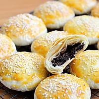 红豆沙千层酥 国庆中秋双节伴手礼不只有月饼 没蛋黄的蛋黄酥的做法图解27