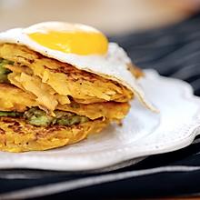 早餐红薯鸡蛋饼