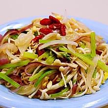 洋葱芹菜拌金针菇