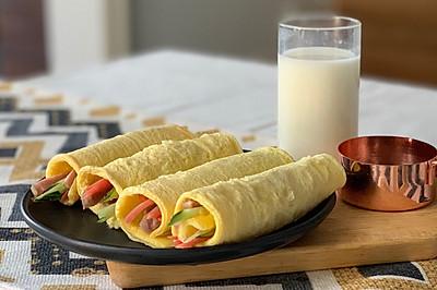 我的减脂餐:不用一滴油的鸡蛋卷