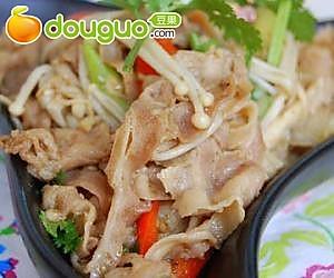 金针菇炒羊肉