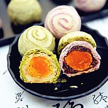 抹茶紫薯蛋黄酥#长帝烘焙节(刚柔阁)#