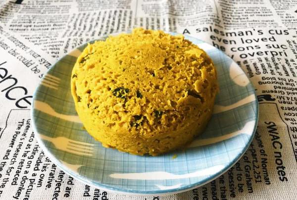 微波炉食谱:燕麦南瓜椰香快手蛋糕的做法