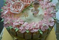 奶油霜玫瑰公主蛋糕的做法
