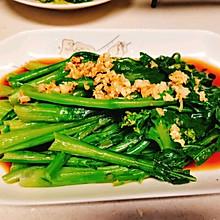 家常菜宴客菜-餐桌上必不可少的白灼蒜蓉广东菜心