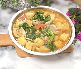 #寻味外婆乡#油豆腐西红柿荠菜汤的做法