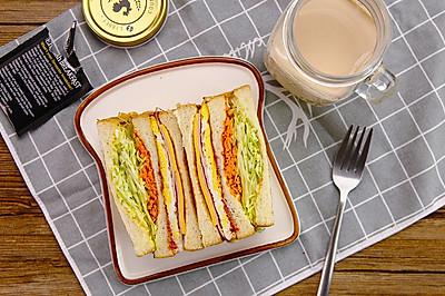 韩国街头三明治|太阳猫早餐