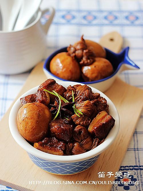 豆结、卤蛋红烧肉(电饭锅版)的做法