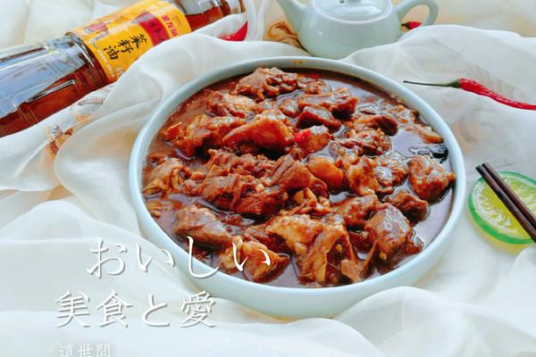 天津人最爱菜之一黄焖牛肉#金龙鱼外婆香小榨菜籽油最强家乡菜#的做法