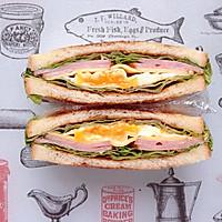 火腿芝士蛋三明治#百吉福食尚达人#的做法图解11
