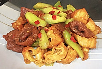 #我们约饭吧#丝瓜的新式吃法#丝瓜油条炒牛肉的做法
