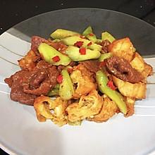#我们约饭吧#丝瓜的新式吃法#丝瓜油条炒牛肉