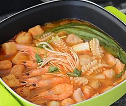 辣白菜海鲜锅#利仁火锅节#的做法