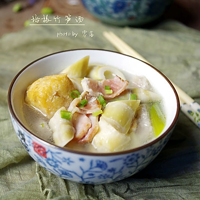 【菜中珍品:鲜嫩清香春笋汤】培根竹笋汤