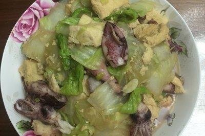 白菜海兔炖冻豆腐