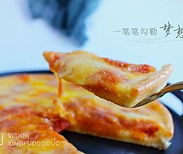 薄底香肠披萨的做法