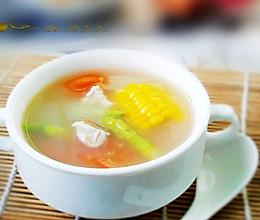 芦笋玉米番茄汤的做法