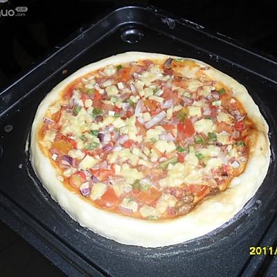 我用微波炉做比萨