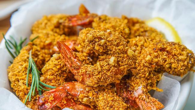 花生咖喱虾的做法