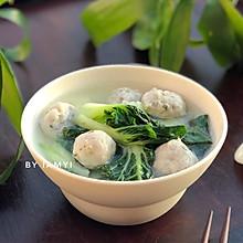 """#""""果""""然有道#白菜鱼丸汤"""