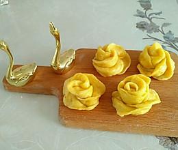 黄玫瑰花南瓜馒头花样馒头的做法
