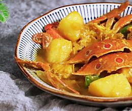香浓咖喱蟹的做法