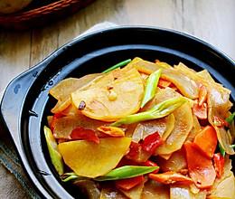 不过油~干锅魔芋土豆片的做法