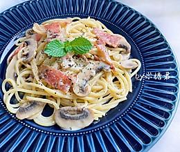 经典西餐:奶油培根意大利面的做法